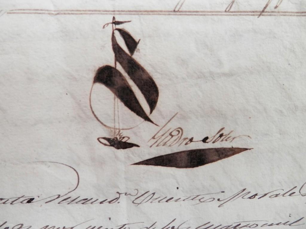 Signatura notarial d'isidro Soler. Trobarem algun dia la de Guardiola?