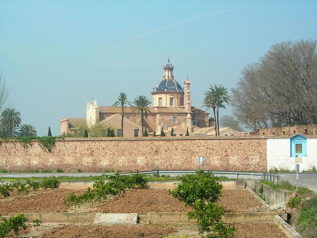 Cartoixa d'Ara Chistri, situada al municipi valencià de El Puig (l'Horta Nord). Font: Viquipèdia