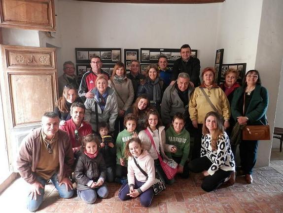 La familia Espasa en una visita realitzada a principis de febrer.