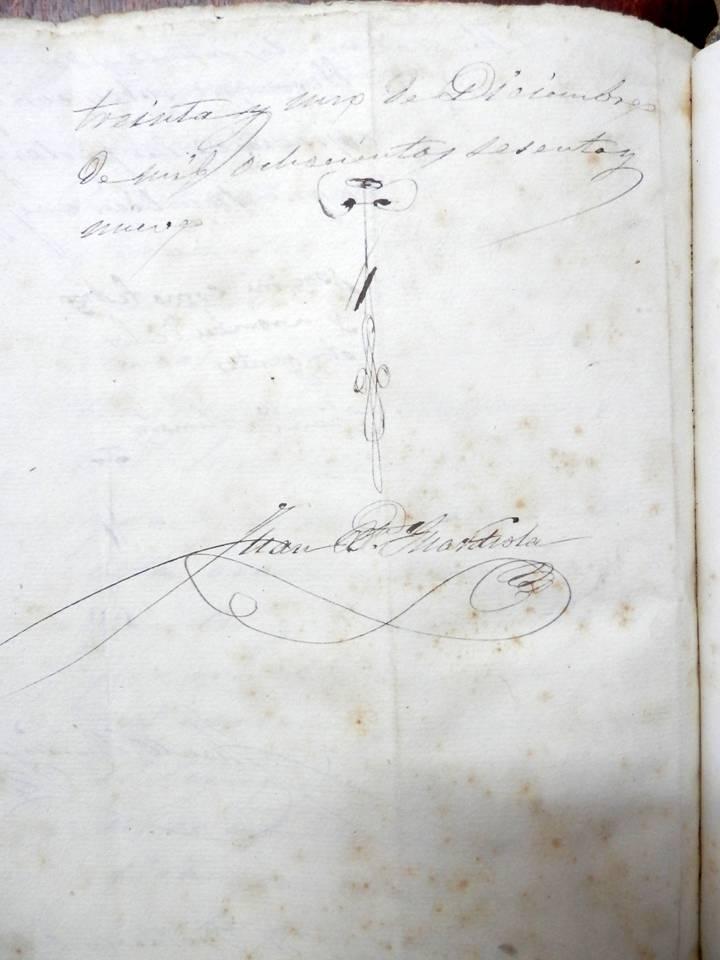 Signatura notarial de J.B. Guardiola (1869)