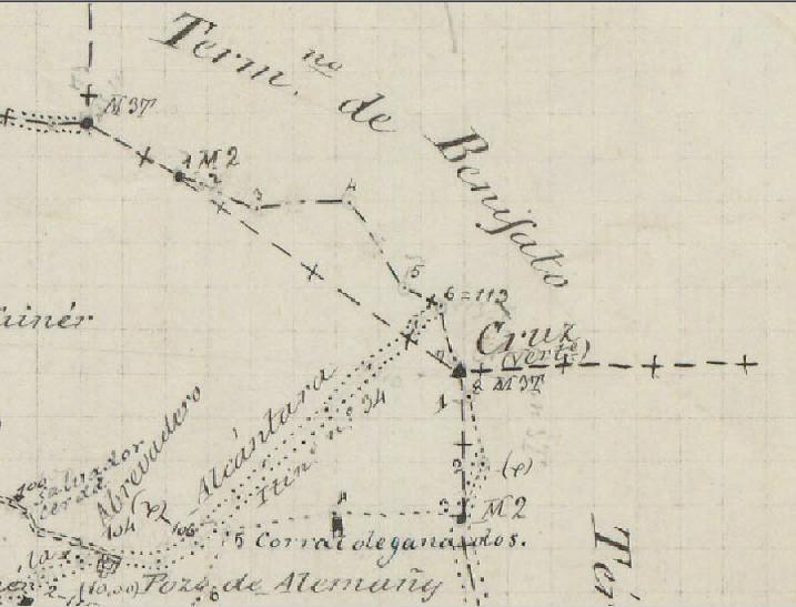 Fites al Bosquejo Planimétrico de finals del segle XIX (Instituto Geográfico y Estadístico). Fulla de Sella