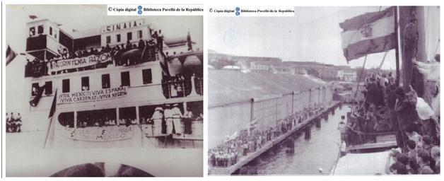Arriba del buc Sinaia a Veracruz. Font: Biblioteca Pavelló de la República.