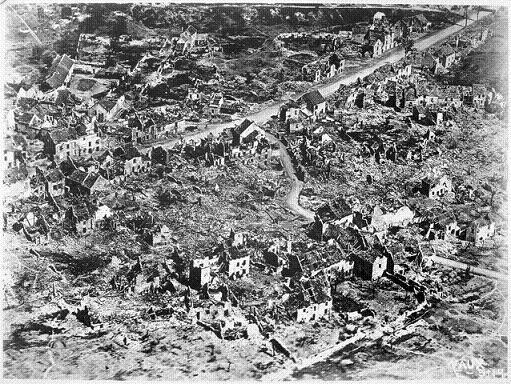 Estat de la població de Vaux en 1918. França era un pais en runes que necessitava treballadors per a la reconstrucció. Font