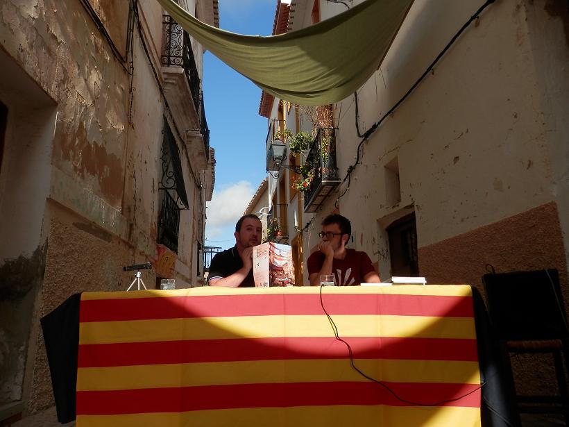 Josep Garcia junt amb l'autor, Jaume Silvestre