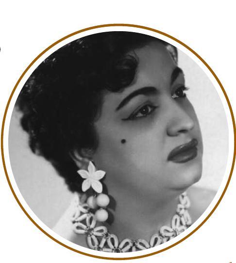 Nita del Carmen poc abans de la seua retirada, que es va produir a l'any 1961.