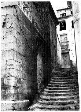 Actual carrer La Pau entre 1973 i 1979. Possiblement es tracta d'una fotografia de Mario Guillamón Vidal. Biblioteca Valenciana.