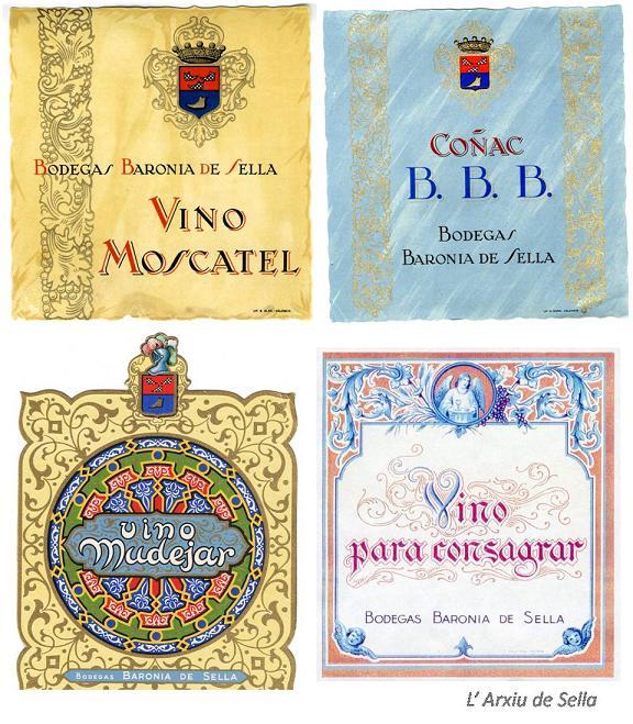 La bodega comptava amb  diversos vins (L'Arxiu de Sella)
